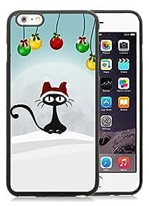 Featured Desin iPhone 6 Plus Case,Christmas Retro Cat Black iPhone 6 Plus 5.5 TPU Case 1