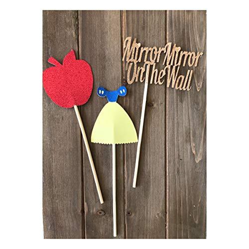 Snow White Props/Snow White Centerpieces/One Birthday/Princess Birthday -