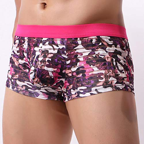 Binggong Doux Pochette Caleçon Translucide Camouflage Underwear Cosy Men Rose Nylon Homme En Sexy Boxer 7xBEBqwFZ