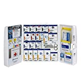 First-Aid-Only-1000-FAE-0103-Large-Smart-Compliance-General-Workplace-Plastic-First-Aid-Cabinet-with-Pain-Relief-Medication-50-person