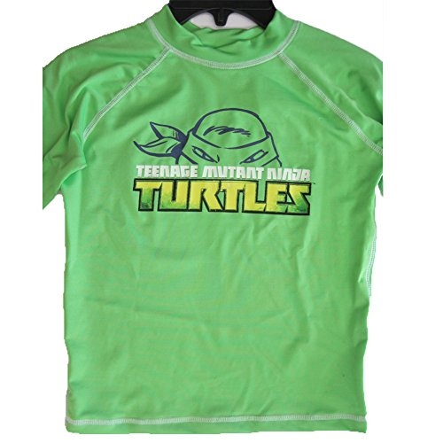 Ninja Turtle Big Boys Lime Green Stretchy Printed Swim Wear