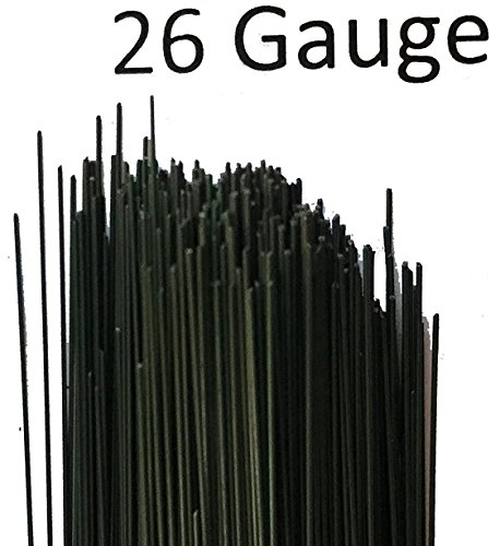Dark Green Floral Wire Stem Wire 18 inch 1 Lb. Package w/ (One Pound Packages)