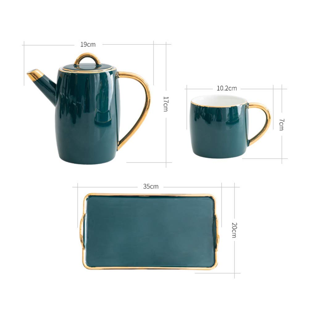 Coffee Pot Tea Pot Coffee Kettle Espresso Coffee Maker Coffee Machine French Coffee Press Ceramics Sets Water Bottle Large Capacity GAOFENG (Color : Pot+6 Cups) by GAOFENG-coffee pot (Image #2)