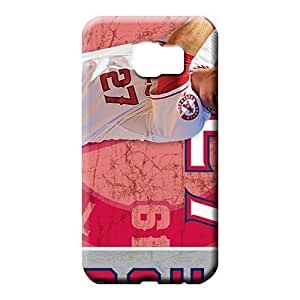 samsung galaxy s6 mobile phone carrying shells Plastic Collectibles style los angeles angels mlb baseball