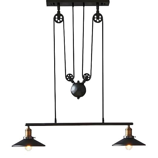 Sanyi Retro colgante retráctil lámpara de araña luz ...