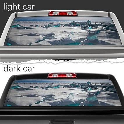b00a7102474edb Ice Desert Perforated Film Car Accessories Truck Window Wrap Car Truck Decal  Car Idea Suv Decal