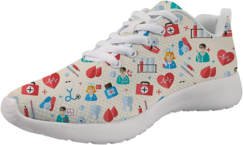 Showudesigns Zapatillas de Running para Mujer Enfermera Zapatos ...