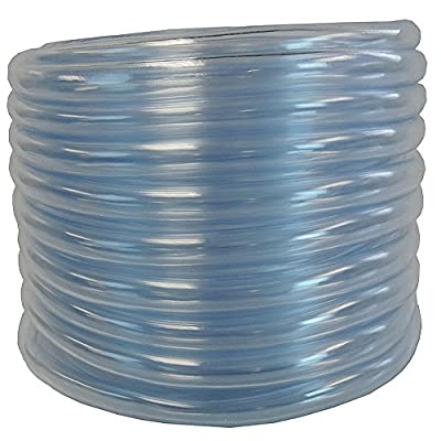 1/2 ID X 5/8 OD X 50 Feet Hydromaxx Flexible PVC Clear Vinyl Tubing. BPA Free and Non Toxic