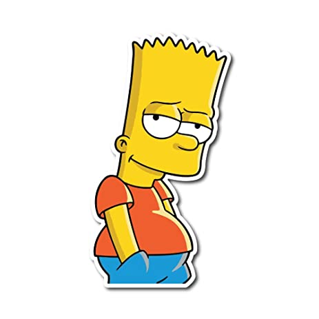Bart simpson sticker decal for car window bumper laptop skateboard wall
