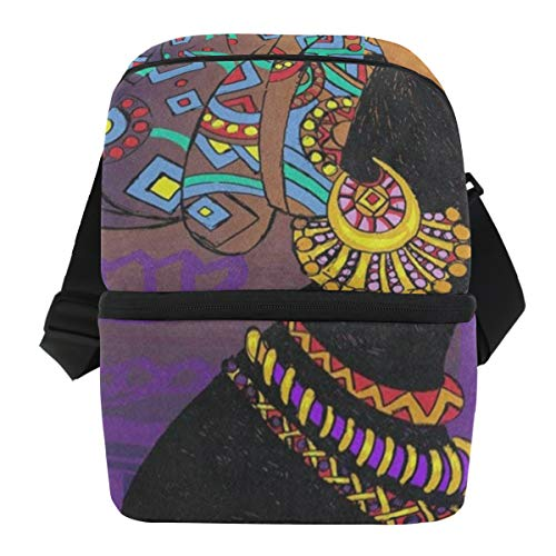 Lovexue Lunch Bag Colored African Women Mandala Portable for sale  Delivered anywhere in USA