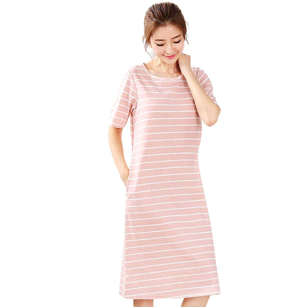Women Sleepwear Plus Size Pajama Tees Shirt Sleepwear Lounger Loose Sleep Dress
