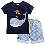 Little Boys Summer Clothes Cotton Short Sleeves Clothing Sets (2-7T) (2T)