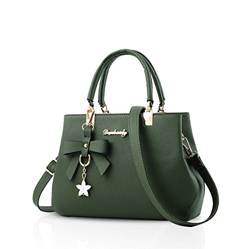 Leather Waterproof Shoulder Bowknot Crossbody Green PU Brown Bag Nicole Handbag Women amp;Doris Og1wU1