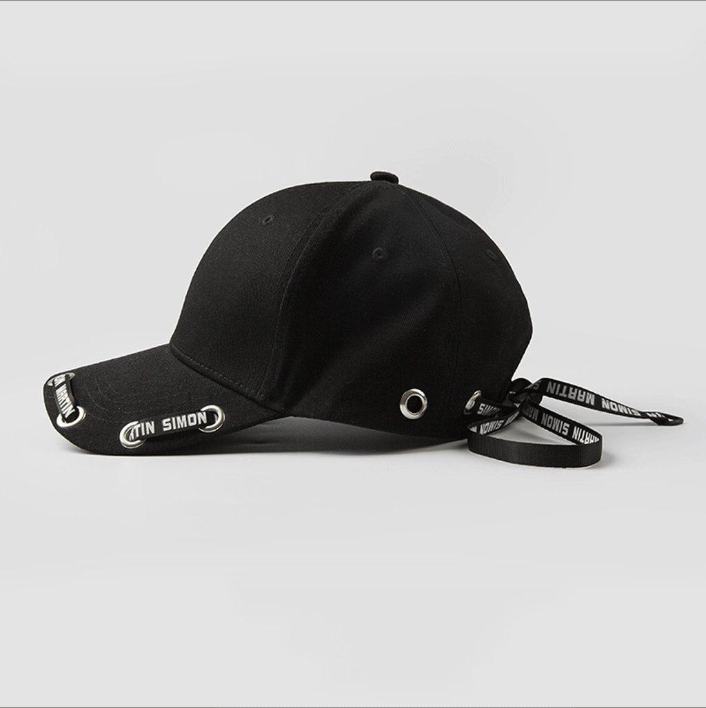 Zcx Sombrero Sombrero Zcx de Las señoras Playa Streamers Largo Sombrero de Sol al Aire Libre Ocio Gorra de béisbol (Color : Negro) b6614c