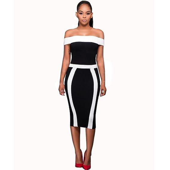 26007972b86eb Amazon.co.jp: BAO8 ドレス 無地ワンピース 半袖ドレス ひざ丈スカート オフショルダー セクシー 女性ワンピース 可愛い 素敵  普段着  服&ファッション小物