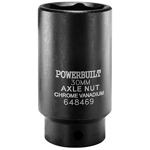 Powerbuilt 648469 1/2-Inch Driver by 30mm Axle Nut Socket ()