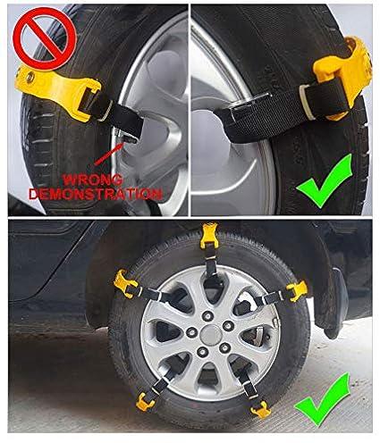 ANSTEN Cadenas universales para neumáticos Nieve para Coches, Cadenas de Seguridad para Coches, Cadenas Gruesa para neumáticos Nieve, ...