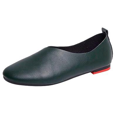 e91faa47a10b Sonnena Chaussures Femmes Mode Casual Chaussures de Plates Femme Vintage  Mocassins Couleur Solide Bout Rond Printemps
