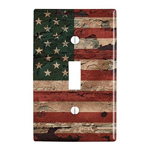 GRAPHICS & MORE Rustic American USA Flag Distressed Plastic Wall Decor Toggle Light Switch Plate Cover ()