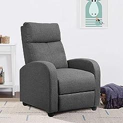 JUMMICO Fabric Recliner Chair Adjustable...
