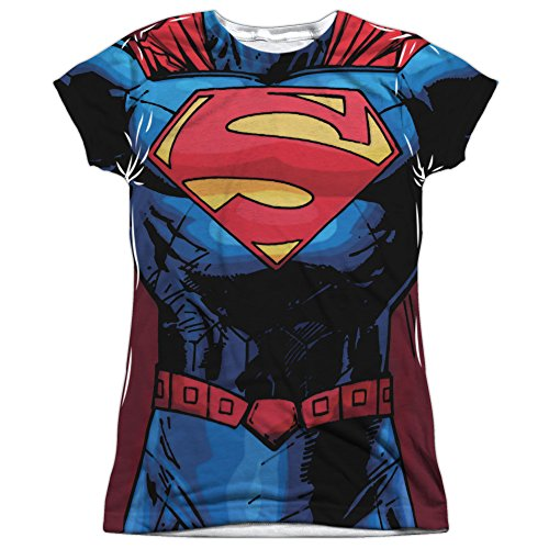 Juniors: Superman- New 52 Costume Tee Juniors (Slim) T-Shirt Size L -