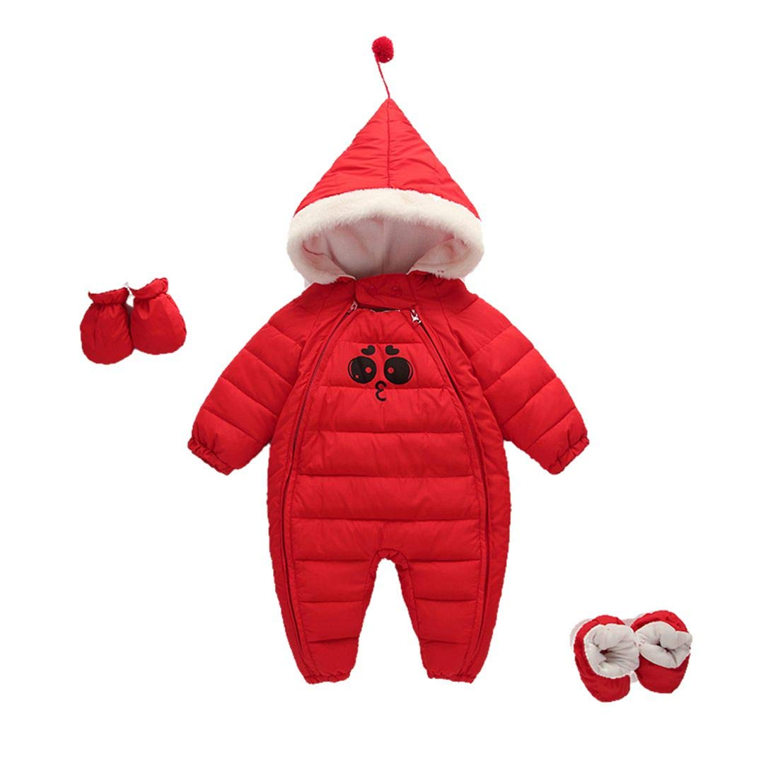 TOURME Newborn Infant Baby Girls Boys Winter Warm Jumpsuits Snowsuit Outerwear