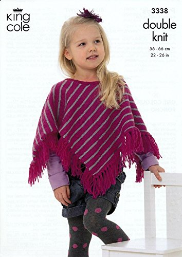 King Cole Children S Ponchos Dk Knitting Pattern 3338 Amazon Co Uk