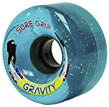 Sure-Grip Gravity Roller Skate Wheels Blue