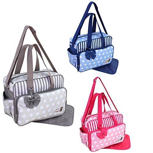 GMMH 2piezas bolso cambiador 3130Bolsa de bolsa para pañales Baby funda Selección de Colores rosa rosa azul