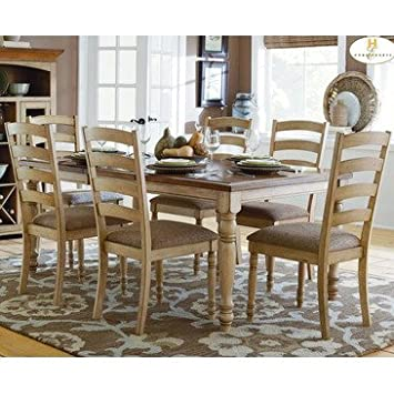 Homelegance Nash 7 Piece Rectangular Extension Dining Room Set In Oak