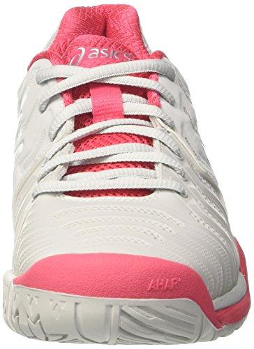 Asics Gel-Resolution 7, Zapatillas de Tenis para Mujer Multicolor (Glacier Grey/white/rouge Red)