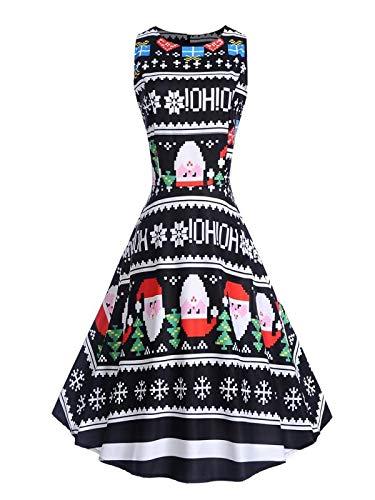 - Lowprofile Tank Dress Women Evening Party Prom Swing Dress Christmas Stocking A Line Dress