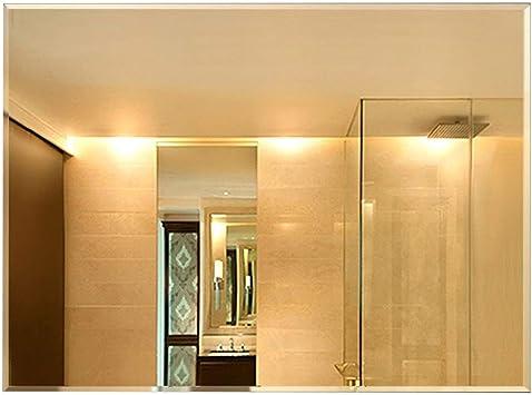 CXX Espejo De Vanidad Espejo De Pared Rectángulo Espejo De Baño Espejos Espejo De Pared Simple Elegante Rectangular For Baño, Sala De Estar, Dormitorio, Vestidor, Gancho, Pegamento (Size : Glue): Amazon.es: Hogar