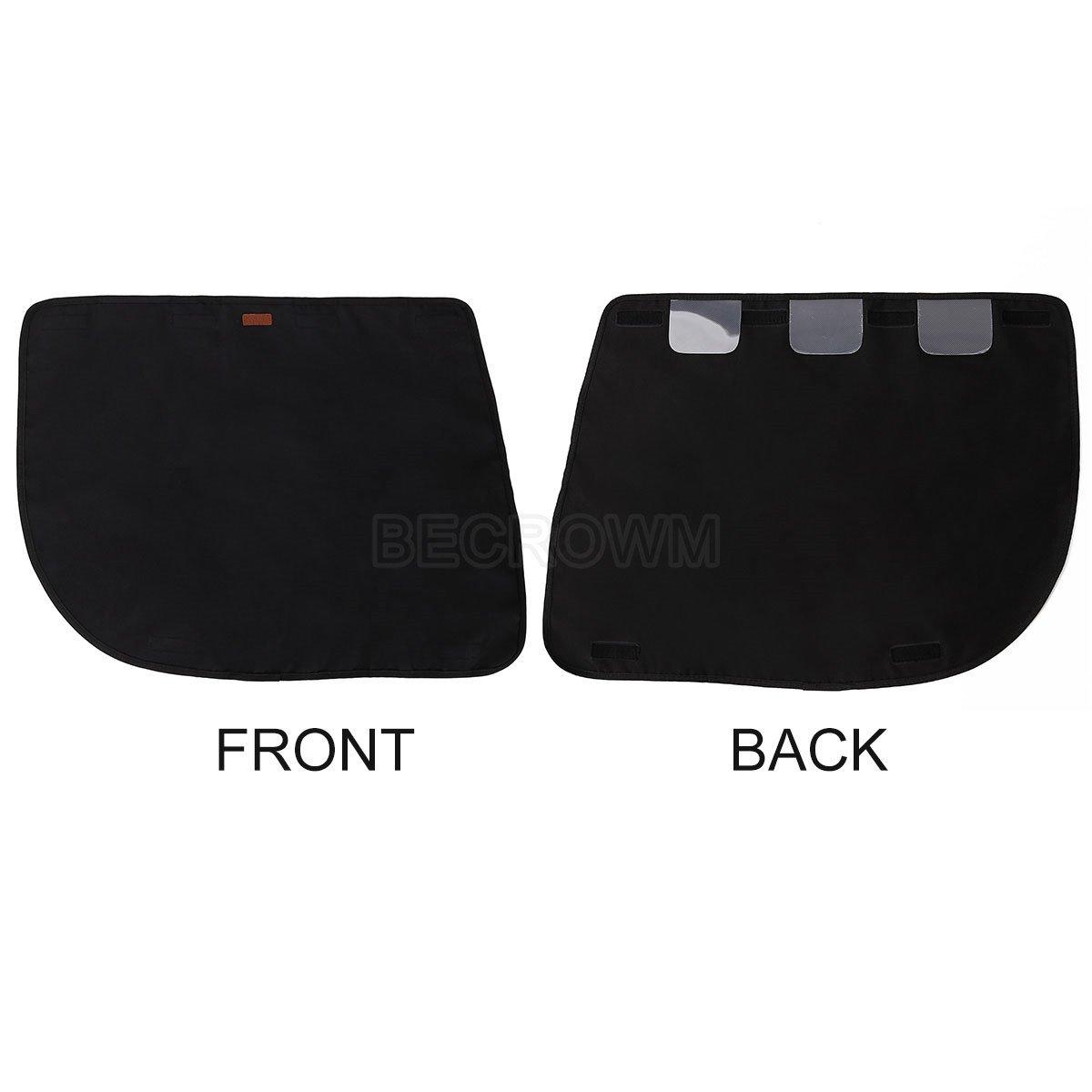 BECROWM EU Waterproof Pet Car Door Cover Vehicle Door Protector Back Seat Doors Two Steps To Install,Black