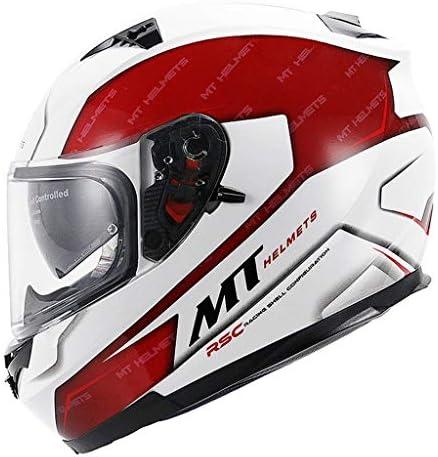 ZJJ ヘルメット- ユニセックスフルカバーヘルメット、雨および紫外線保護ヘルメット、ダブルレンズ (色 : 赤, サイズ さいず : XXL)