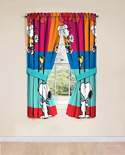 "Peanuts Just Be 42"" x 63"" Curtain Panel Pair"