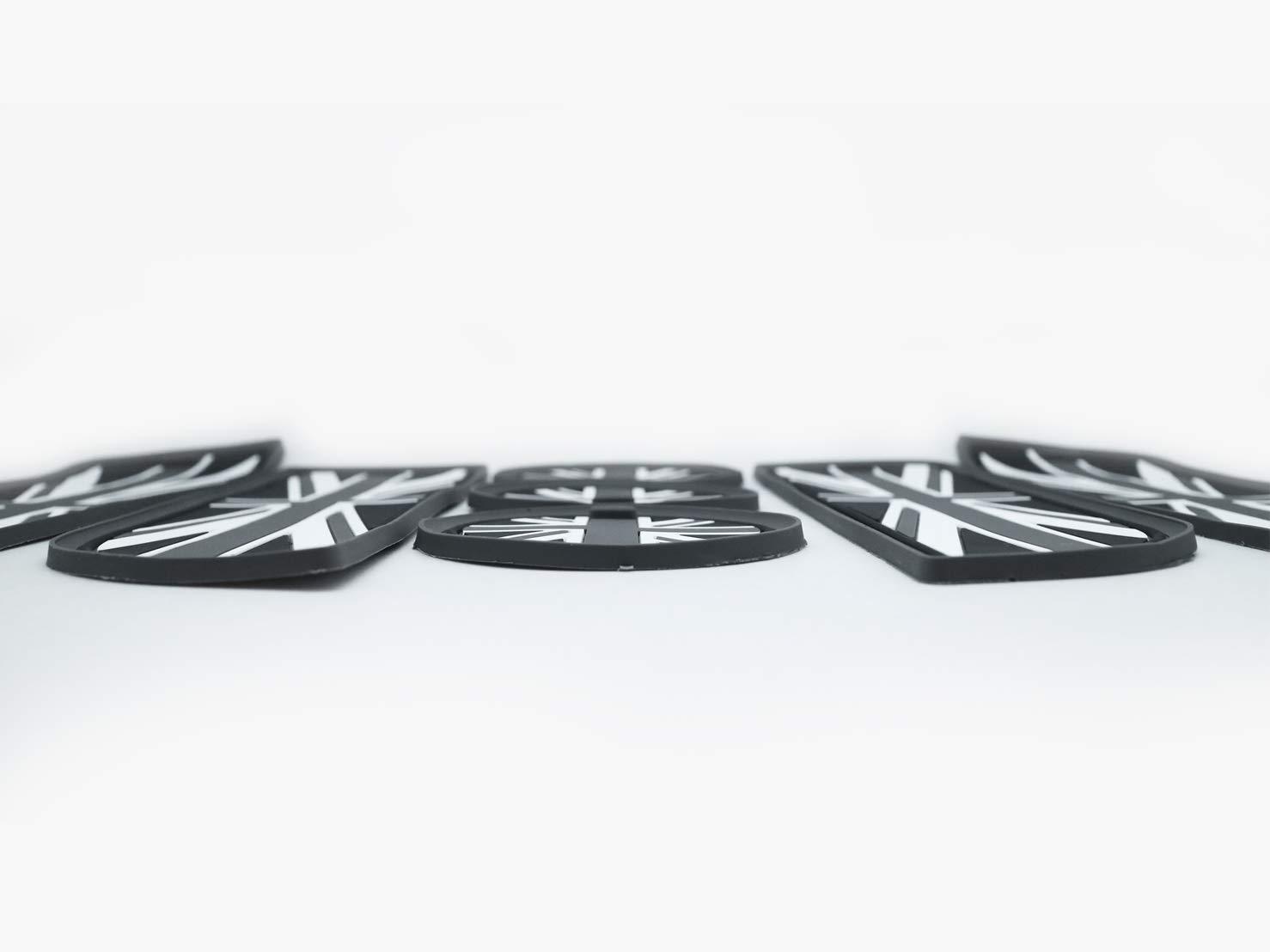 porte-gobelets pour voiture Accessoires de voiture pour le drapeau britannique Ensemble de 7 pi/èces Accessoires Mini Cooper: Tapis de voiture Tapis de porte lat/éral compatible avec 2007-2013