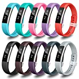 (US) LEEFOX Fitbit Alta Bands, Classic Accessory Band Fit Bit Alta and Alta HR Wristband Watch Buckle Replacement Strap for Original Fitbit Alta/Fitbit Alta HR Fitness Tracker, 10 Pack Small(John1-12)