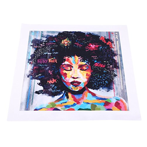 UNKE African American Girl Wall Art Pop Graffiti Style Canvas Oil Painting Without Frame for Home Livingroom Bedroom Decoration,2#
