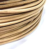 TheTasteJewelry 4mm Natural Color Genuine Leather Cord Rope Jewelry Making 10m String - 4202