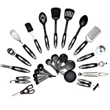 HULLR 25-Piece Kitchen Utensils Set, All Purpose Kitchen Tool Set, Stainless ...