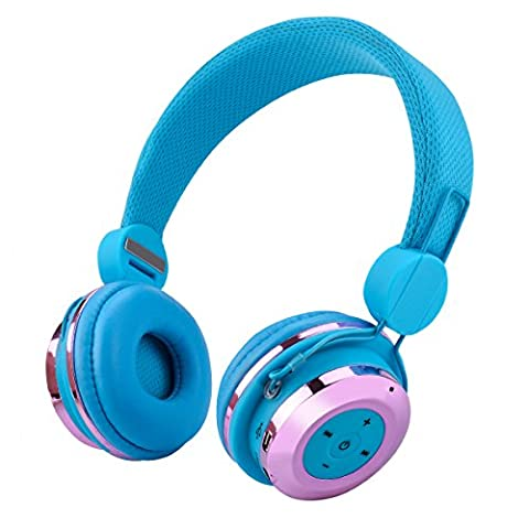 Aita BT804 Wireless Bluetooth Headphones with Built-in Mic, Foldable and Noise Canceling Headphones for Kids and Adults, Deep Bass Headset for iPhone, iPad, Smartphones etc (Bluetooth Optional Headphones)