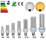 eSaveBulbs LED Corn Bulb ,E27 2400Lm Daylight Led Outdoor Indoor Street and Area Lighting Perfect for CFL hHalogen Lamp Replacement,120pcs 2835SMD Leds,3000K Warm White