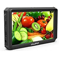 Lilliput A5 5 Inch Camera-Top Broadcast Monitor for 4K HDMI/Full HD Camcorder & DSLR with 1920x1080 Native Resolution Application for Taking Photos & Making Movies