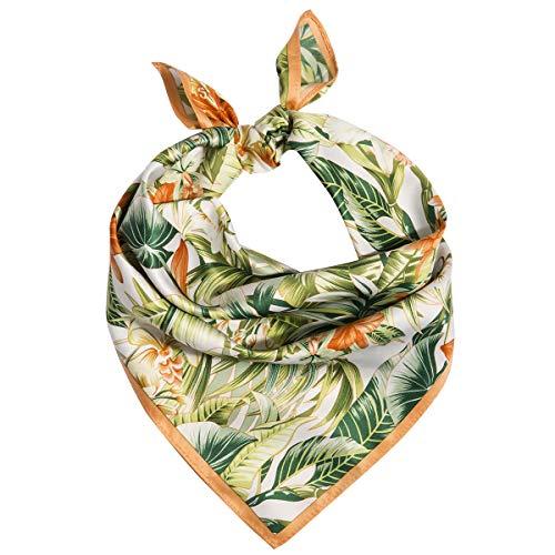 (M Picchu Silk Like Scarf Women's Fashion Pattern Square Satin Headscarf 21 x 21 inches)