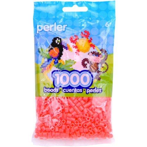 Brand New Perler Beads 1000/Pkg-Hot Coral Brand New