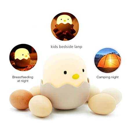 Recargable Luz Silicona Lindo PortátilUsb Cálido Lamparas Controlamarillo Night Animales Chick Cartoon Led Light De QtdsrCxh