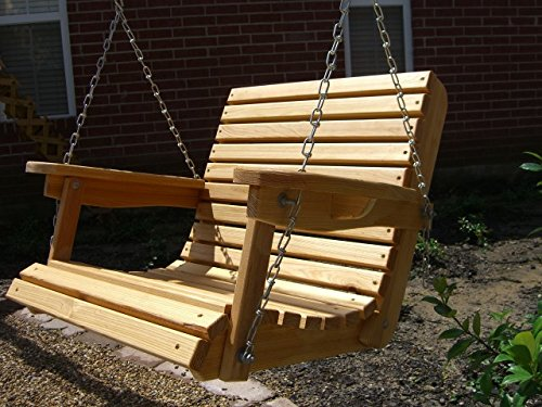 2 Foot Cypress Porch Swing with Unique Adjustable Seating Angle (Louisiana Cypress Swings)