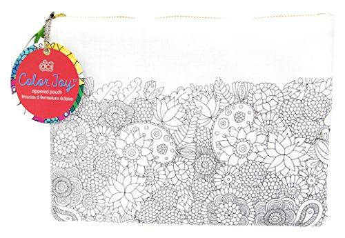 Color Joy Coloring Products, Accessories Bag, Medium, Floral Designs