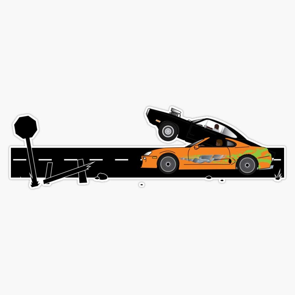 "Live Fast Drive Faster Race car bumper sticker decal 4/"" x 4/"""